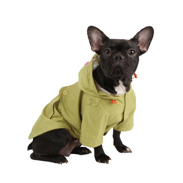 Slicker Dog Rain Jacket by Pinkaholic - Lime