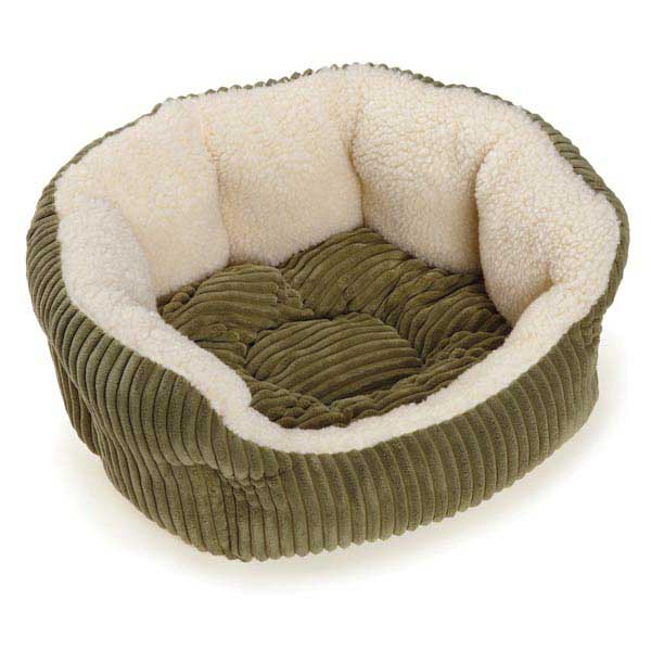 Slumber Pet Cozy Cord Pet Bed - Sage