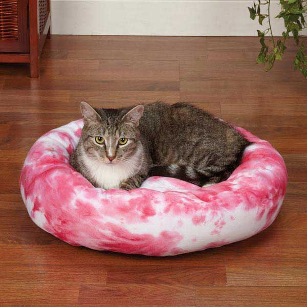 Slumber Pet Cozy Kitty Tie Dye Cat Bed