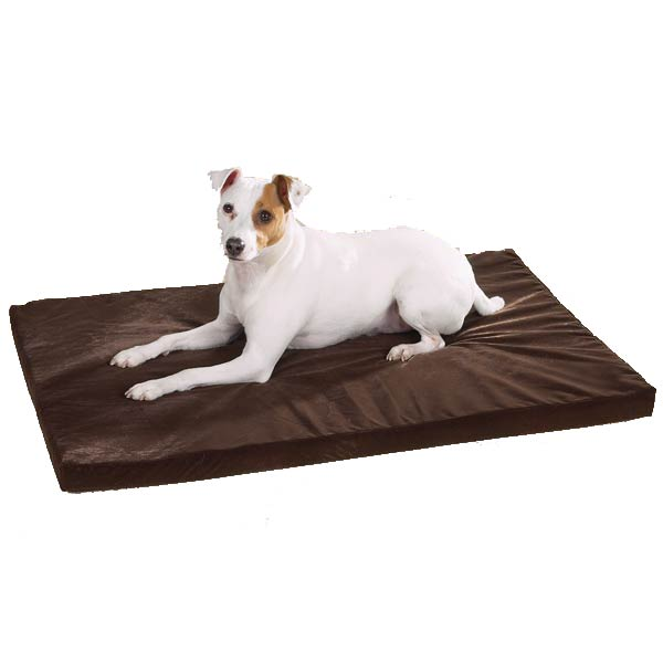 Slumber Pet Memory Foam Rectangular Bed - Chocolate