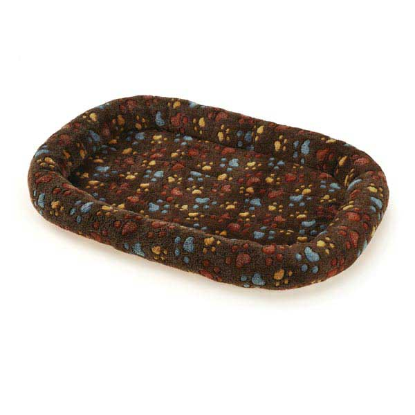 Slumber Pet Plush Paws Crate Bed - Brown