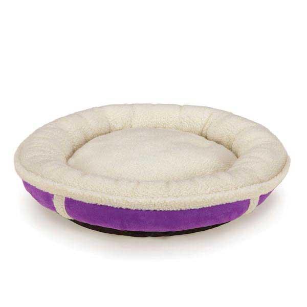 Slumber Pet Sherpa Donut Dog Bed - Ultra Violet