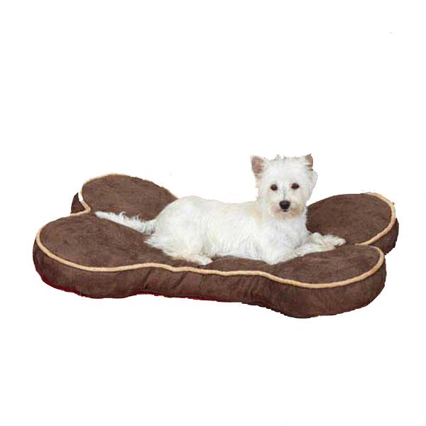 Slumber Pet Suede Bone Beds for Pet - Chocolate