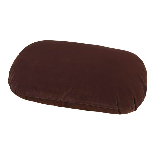 Slumber Pet Therapeutic Memory Foam Oval Bed - Chocolate