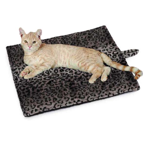 Slumber Pet Thermal Cat Mat - Gray Leopard