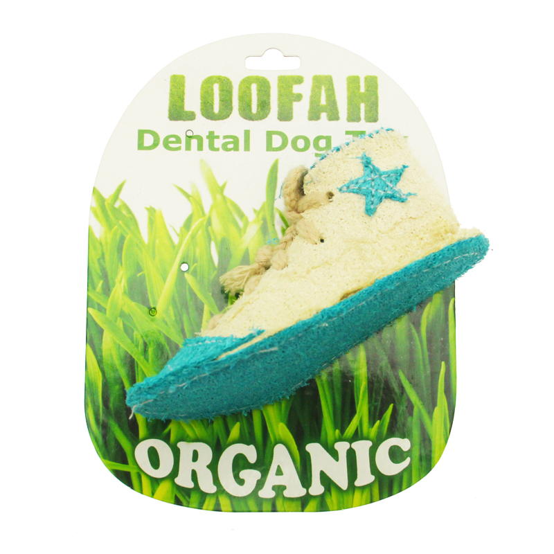Sneaker Loofah Dental Dog Toy