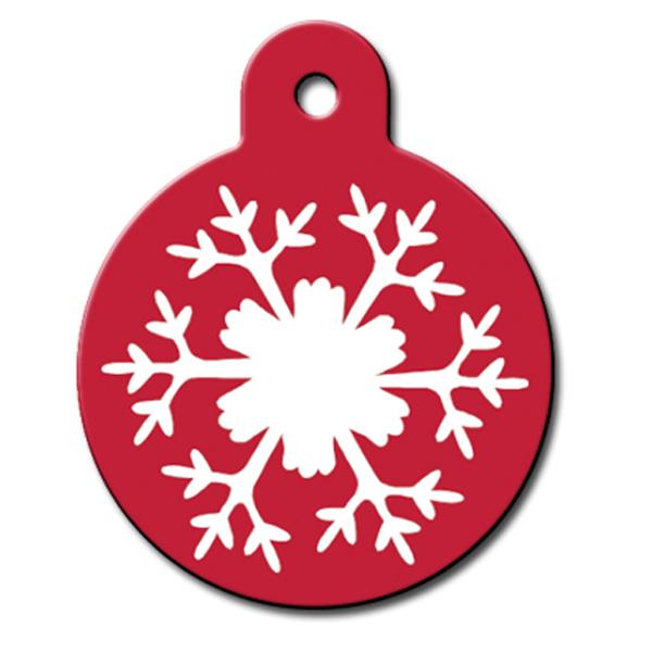 Snowflake Engraveable Pet I.D. Tag