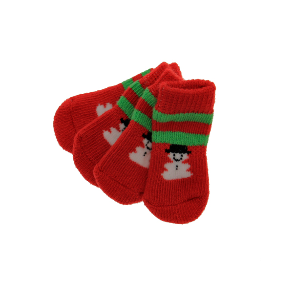 Snowman Soxy Paws Dog Socks