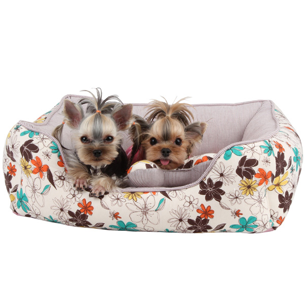 Soft Spice House Dog Bed by Puppia - Brown