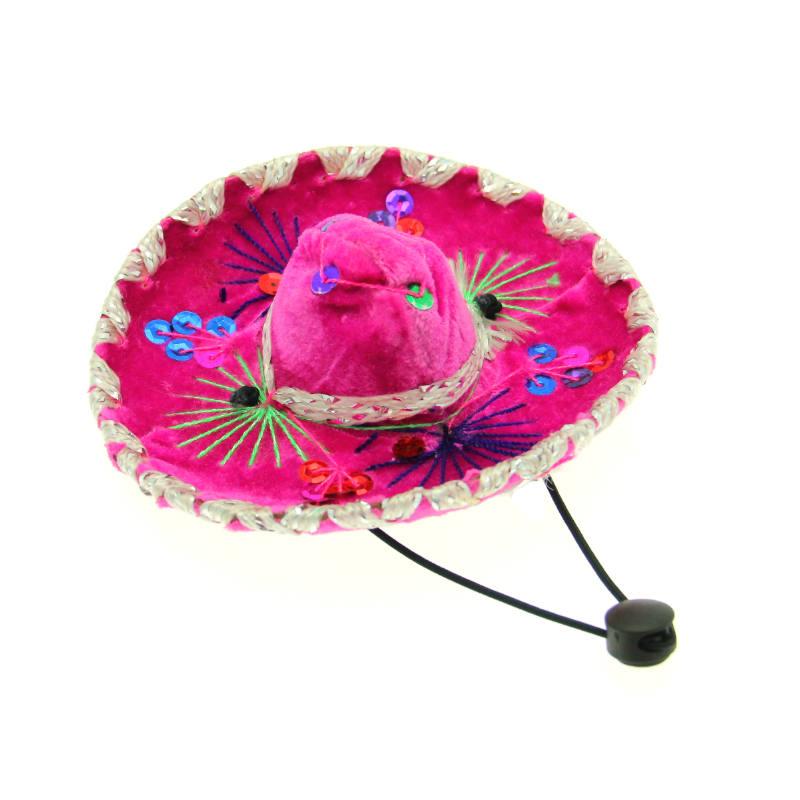 Sombrero Dog Hat - Pink