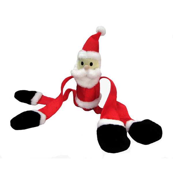 Squeaky Squiggler Santa Dog Toy