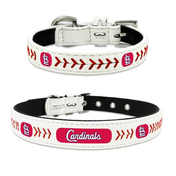 St. Louis Cardinals Leather Dog Collar