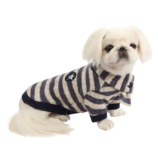 Stanza Dog Sweater by Pinkaholic - Navy