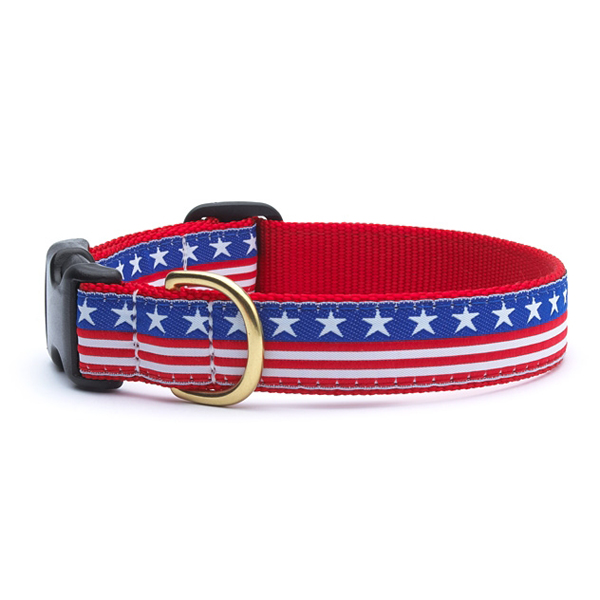 Stars and Stripes Dog Collar by Up Country