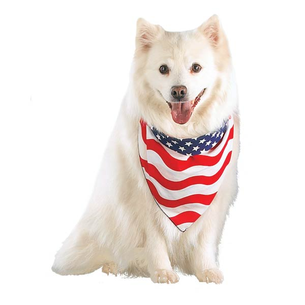 Stars and Stripes Patriotic Dog Bandana