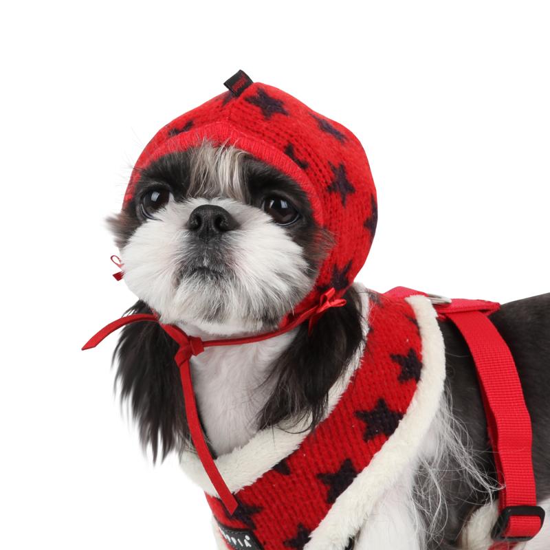 Stellar Dog Hat by Puppia - Red