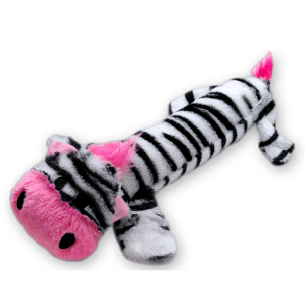 Stuffy Plushy Dog Toy - Zebra