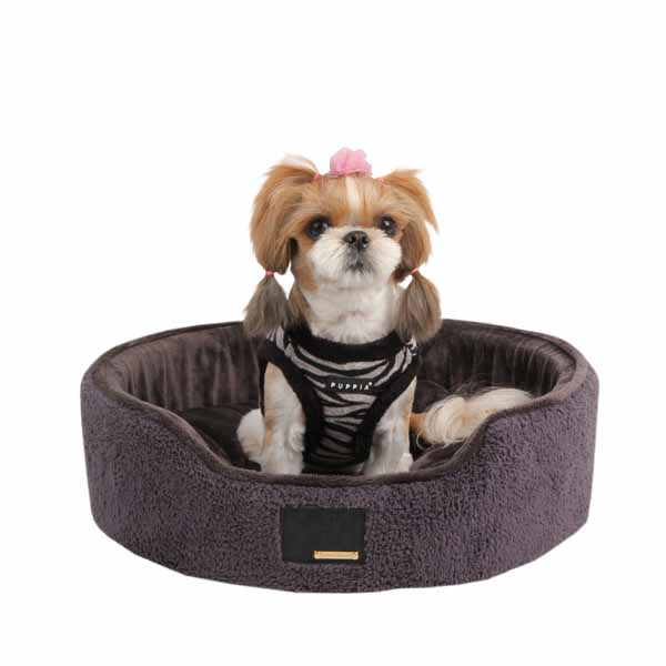 Suave Dog Bed by Puppia - Gray