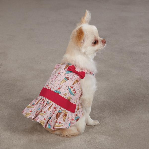 Sundae Dog Sundress by Zack & Zoey - Pink