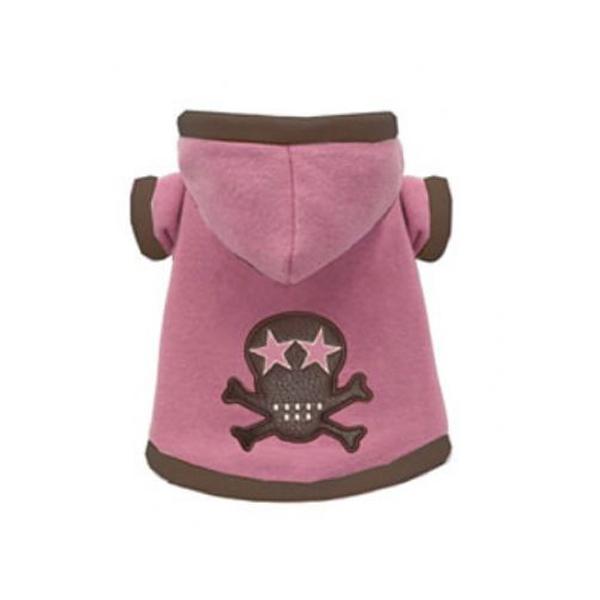 Super Soft Pink Skull Hoodie by Hip Doggie
