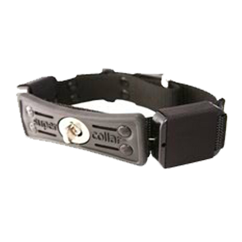 Supercollar Dog Collar with Built-In Leash - Black