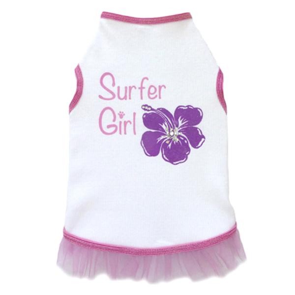 Surfer Hibiscus Girl Dog Tank Dress