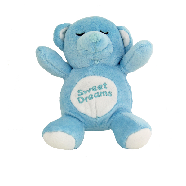 Sweet Dreams Snoring Bear Toy - Blue