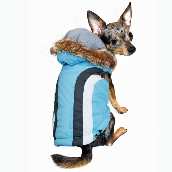 Swiss Alpine Ski Dog Vest by Hip Doggie - Blue