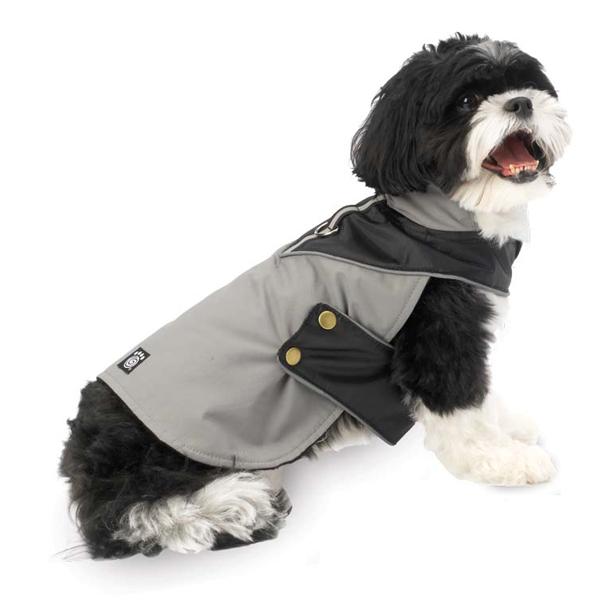 Tacoma Dog Coat - Gray and Black