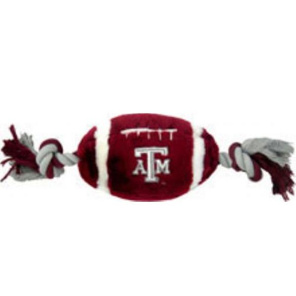 Texas A&M Plush Football Dog Toy