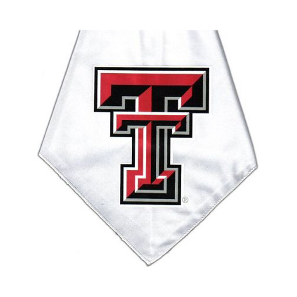 Texas Tech Dog Bandana - White