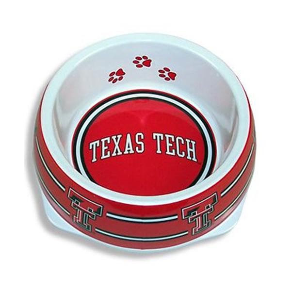 Texas Tech Plastic Dog Bowl