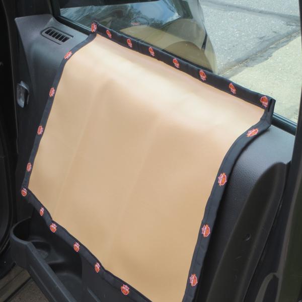 The Doggie Zone Car Door Shield - Brown