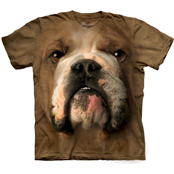The Mountain Human T-Shirt - Bulldog Face