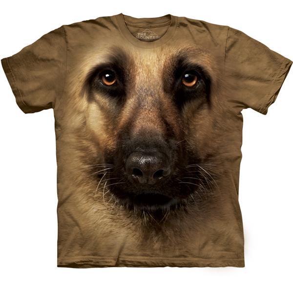 The Mountain Human T-Shirt - German Shepherd Face