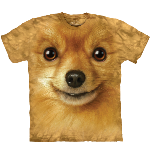 The Mountain Human T-Shirt - Pomeranian Face