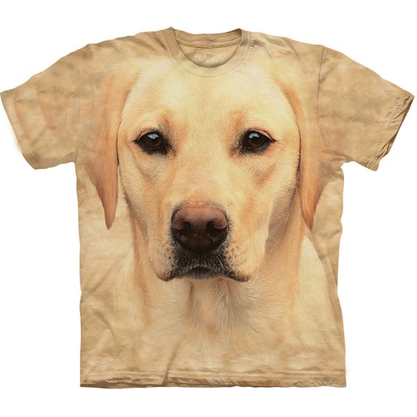 The Mountain Human T-Shirt - Yellow Lab Face