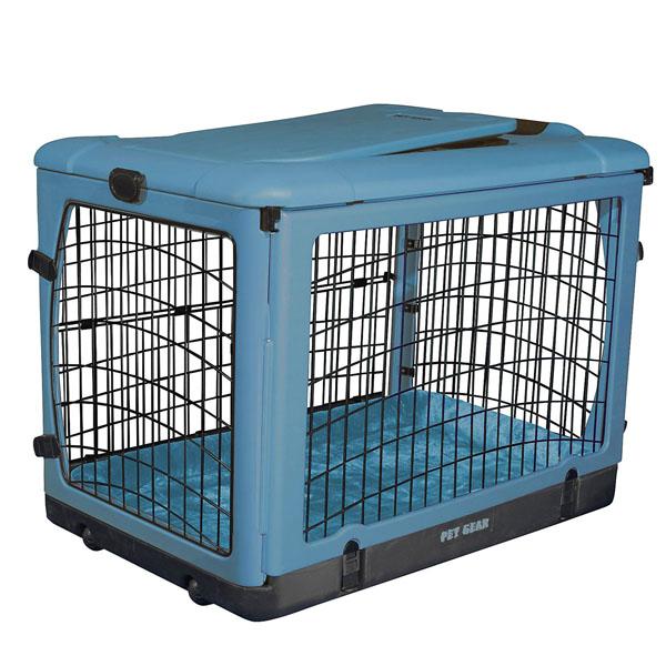 The Other Door Steel Dog Crate Plus - Ocean Blue