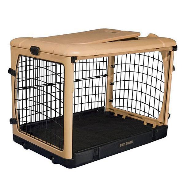 The Other Door Steel Dog Crate - Tan