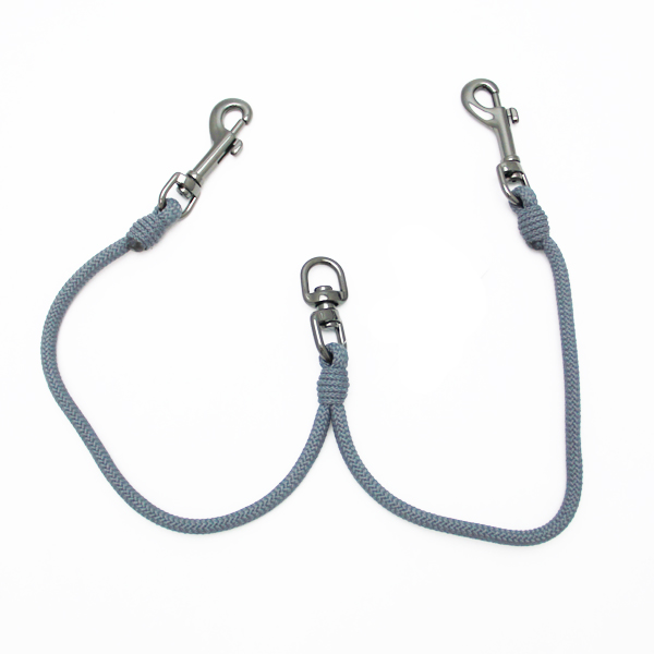Timberwolf 2-Way Coupler Dog Leash - Gunmetal Gray