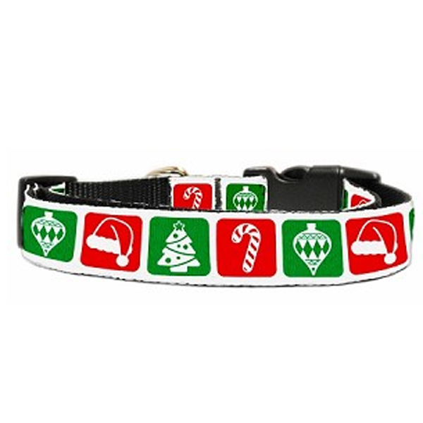 Timeless Christmas Nylon Dog Collar