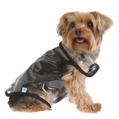 Transparent Dog Rain Jacket