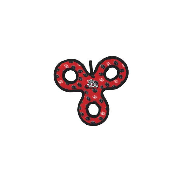 Tuffy Dog Toys Jr 3-Way Tug - Red Paw