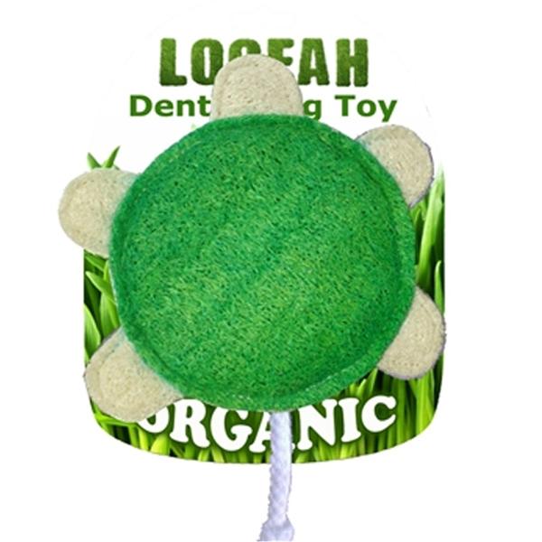 Turtle Loofah Dental Dog Toy