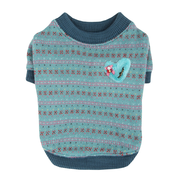 Twilight Dog Sweater by Pinkaholic - Aqua