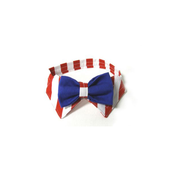 Uncle Sam Dog Bowtie Collar