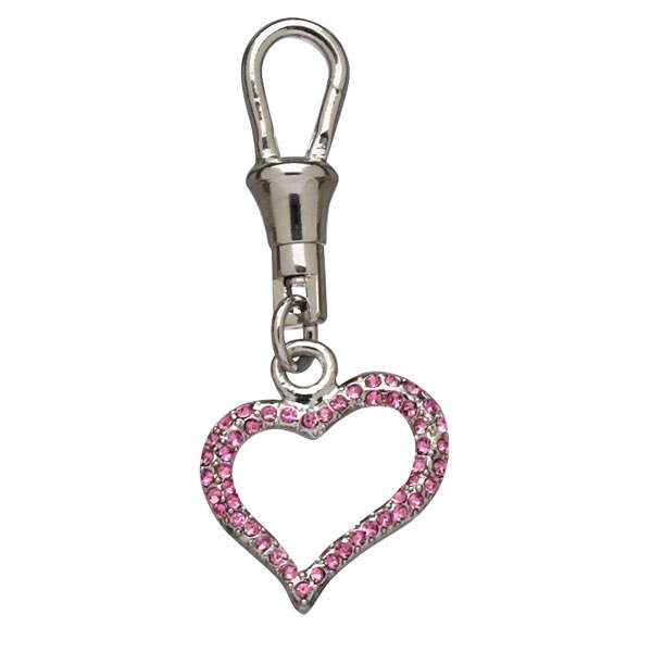 Unity Collar Charm by Doggles - Open Pink Heart