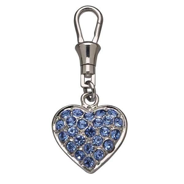Unity Collar Charm by Doggles - Pave Blue Heart