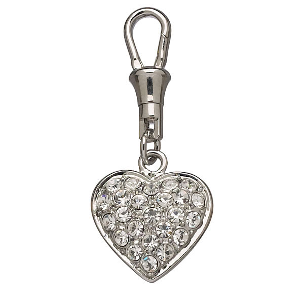 Unity Collar Charm by Doggles - Pave Clear Heart