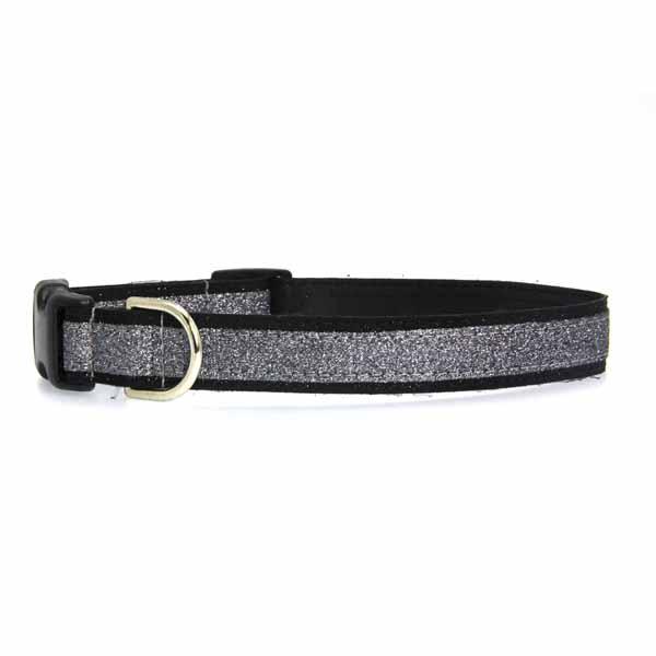 Urban Chic Glitter Dog Collar - Black